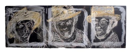 3 estudios para un autorretrato con sombrero de paja