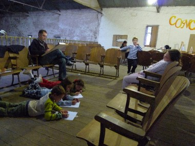 verges y niños retratando a ludmila