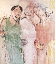 Francisco Tomsich: Estudio de Tríada #2, Técnica mixta sobre tela, 139 x 119 cms, 2012