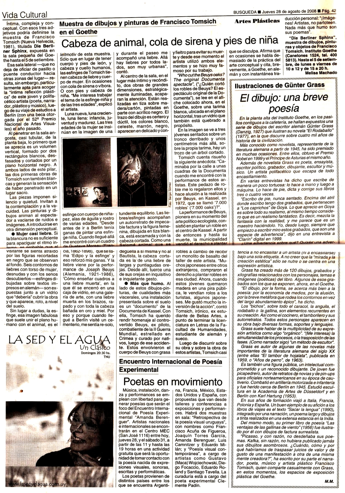 Reseña de Die Berliner Sphinx en Busqueda