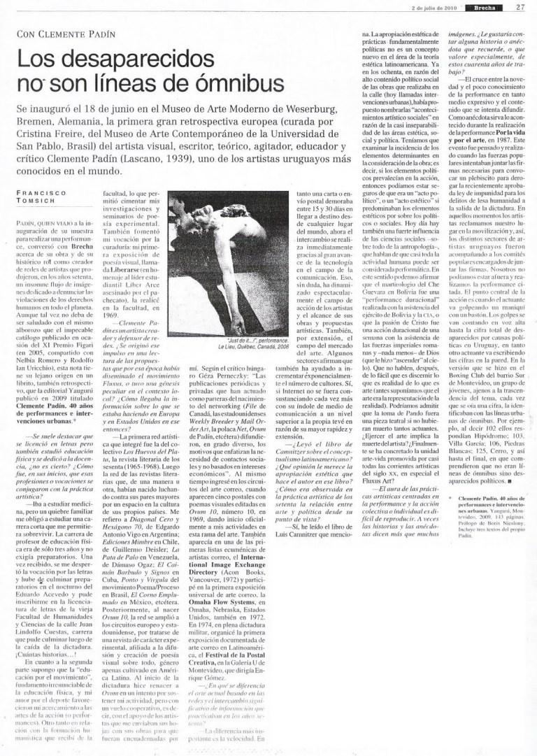LOS DESAPARECIDOS NO SON LINEAS DE OMNIBUS_FRANCISCO TOMSICH_2010