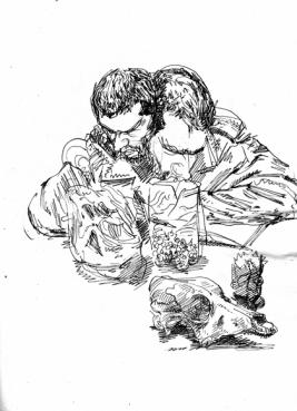 TDUEPURC-6-Tambores-Guille-Tinta sobre papel obra (Copiar)