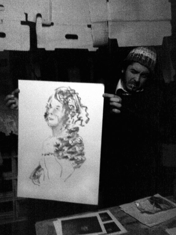 at the studio with portrait of rachel (Copiar)