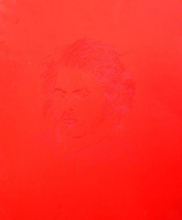 SELF PORTRAIT IN RED_F.Tomsich