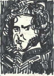 STUDY FOR A SELF-PORTRAIT_Francisco Tomsich