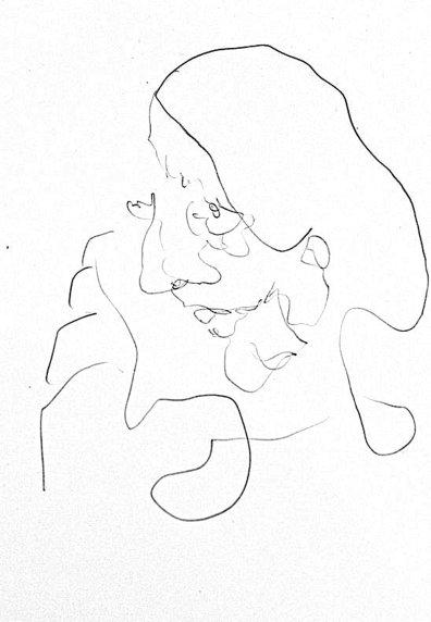 MISTAKES OF THE RUSSIAN MYSTICS (PATRICIA, I). Nancy, Francia, 2018. Lápiz sobre papel A5_Francisco Tomsich