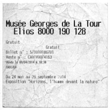 TICKET DE ENTRADA AL MUSEO GEORGES DE LA TOUR, VIC-SUR-SEILLE, FRANCIA. 2013_Francisco Tomsich