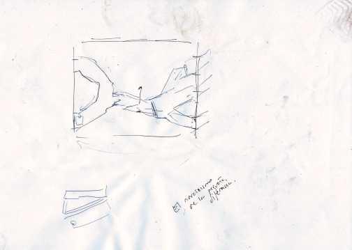 12_Iconocante desnudo. Sketch for an installation
