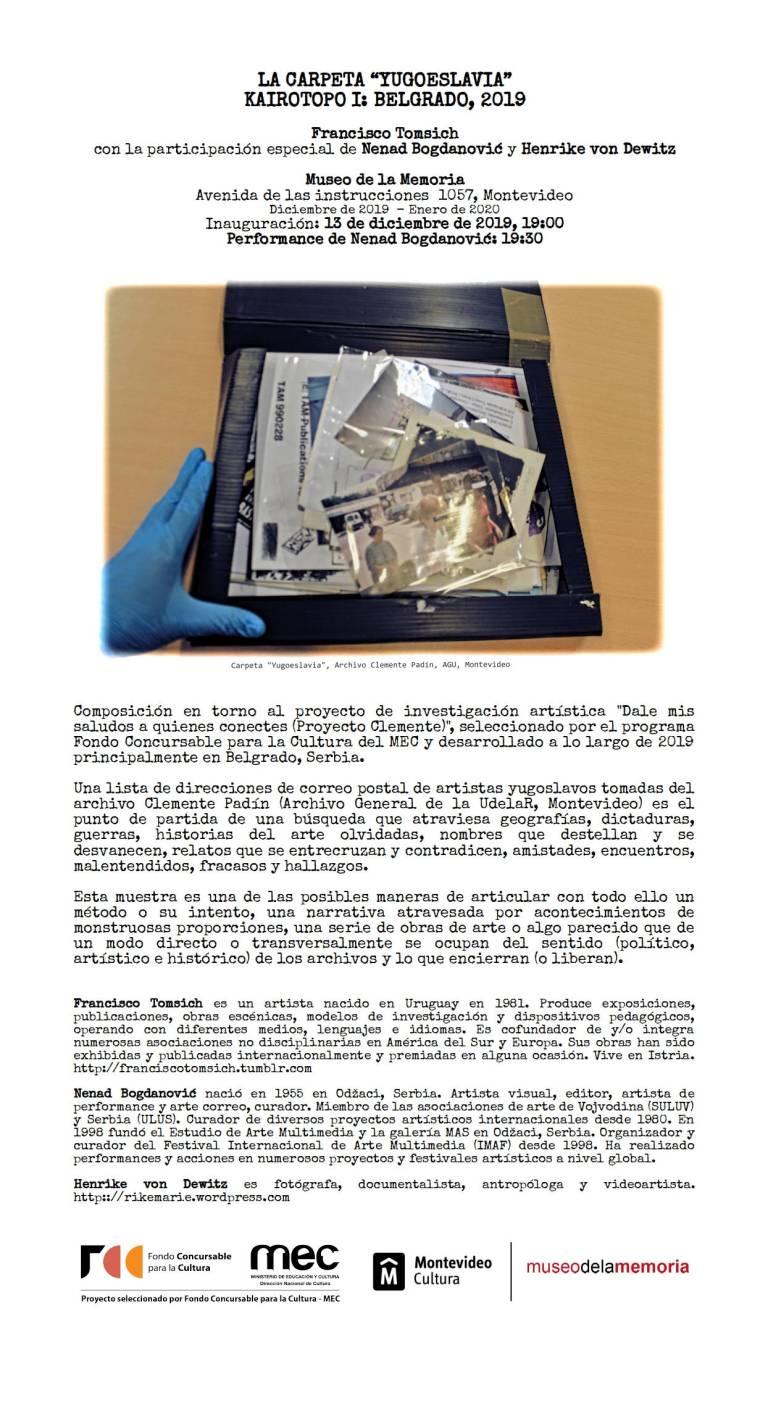 INVITACION_LA CARPETA YUGOESLAVIA
